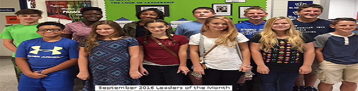 September 2016 Leaders of the Month