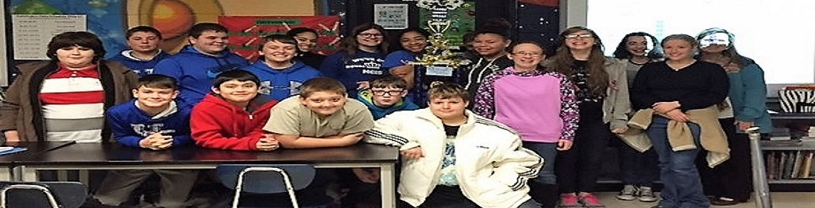 Attendance winners for the month of November 2016--Mrs. Meade's Homeroom.