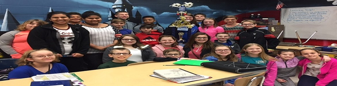Mrs. Stanfield's homeroom is the attendance winner for February 2017.